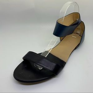 Chloe Black and Navy Ankle Strap Sandals 41